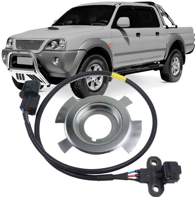 Sensor de Rotacao Motor e Arruela da Roda Fonica L200 Pajero Sport Hpe
