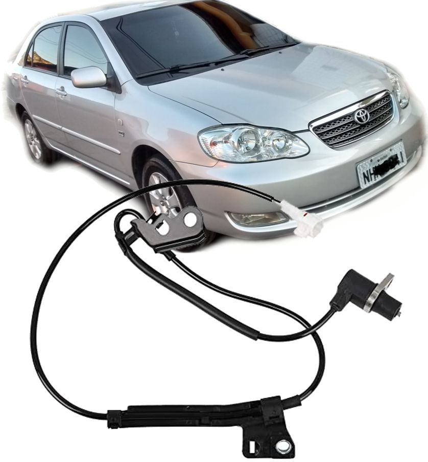 Sensor Freio ABS Corolla e Fielder 2003 a 2008 Dianteiro Esquerdo