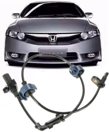 Sensor Freio Abs Honda New Civic 1.8 16V e 2.0 SI de 2006 a 2011 Dianteiro Esquerdo