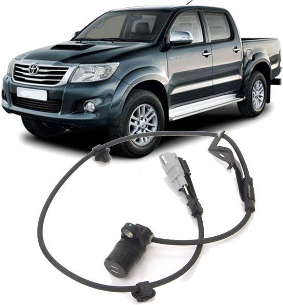 Sensor Freio ABS Traseiro Direito Hilux e SW4 3.0 e 2.5 Diesel e 2.7 Flex de 2012 à 2015 - 89545-0K070