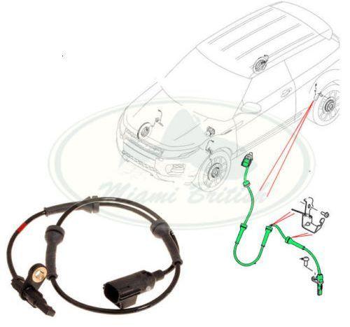 Sensor Freio Abs Traseiro Land Rover Evoque 2.0 16V Turbo Apos 2011