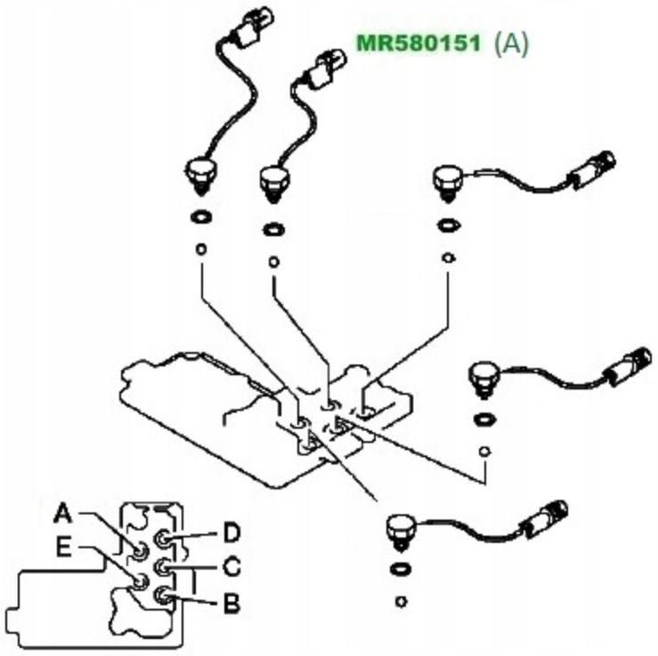 Sensor Interruptor Tracao 4x4 Pajero Triton Dakar de 2000 à 2018 - Mr580151