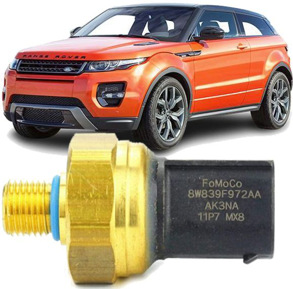 Sensor Pressao Do Combustivel Evoque 2.0 16V Turbo 8w839f972aa / LR079937
