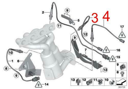 Sonda Lambda Bmw 335i X3 135i X5 325i 3.0 24v 6cc - Pos Catalizador