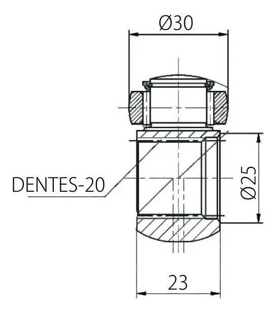 Trizeta Jac Motors J2 1.4 16V de 2011 À 2015 - 20x30mm
