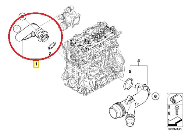 Tubo Flexivel Radiador Bmw 120i 320i X1 2.0 16V - 11537572159