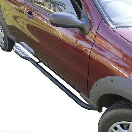 Estribo Lateral Fiat Strada 1996 a 2019 Tubolar Com Chapa