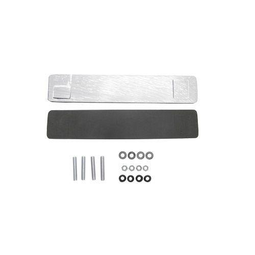 Rack Teto Traseiro em Aluminio Preto Fosco L200 Triton
