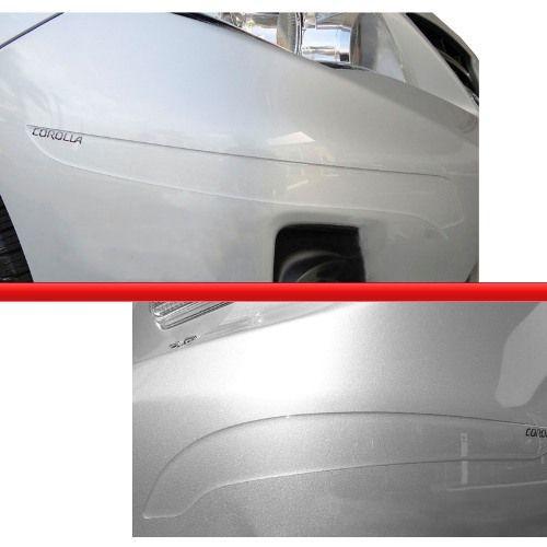 Protetor Para-choque Corolla 08/12 Transp Grafia Preto Prata