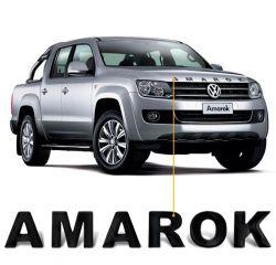 Adesivo de Capo Amarok 2010 a 2019 Frontal Preto Resinado