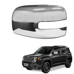 Aplique Capa de Retrovisor Cromado Jeep Renegade 2016 a 2020 Lado Esquerdo