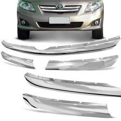 Aplique da Grade Frontal Toyota Corolla 2008 a 2011 Cromado