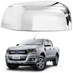 Aplique Retrovisor Ford Ranger 2013 a 2020 Cromado Lado Esquerdo