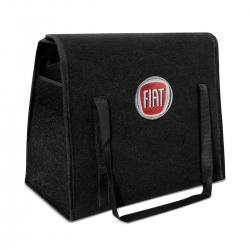 Bolsa Organizadora Porta Malas Logo Fiat Carpete Preto 20 Litros