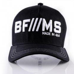 Boné BFMS Original Tradicional Preto com Branco Tela Ajustável