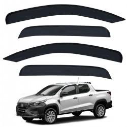 Calha de Chuva Fiat Strada 2021 CD Defletor Acrílico Fumê Tgpoli