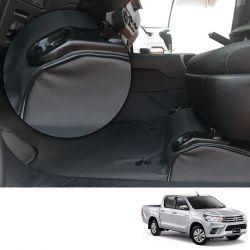 Capa de Assoalho Toyota Hilux 2016 e 2017 em Vinil Preto