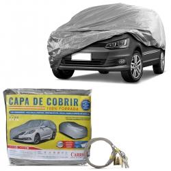 Capa de Cobrir Carro Grande Forro Total Impermeável Com Cadeado