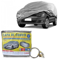 Capa de Cobrir Carro Media Forro Total Impermeável Com Cadeado
