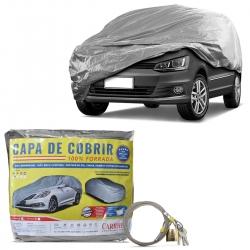 Capa de Cobrir Carro Pequena Forro Total Impermeável Com Cadeado