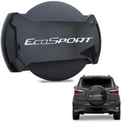 Capa De Estepe Ecosport 2013 a 2019 Antifurto Cinza Camburi