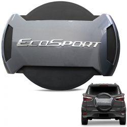 Capa De Estepe Ecosport 2013 a 2019 Antifurto Cinza Moscou