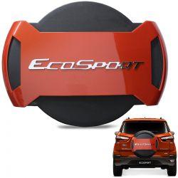 Capa De Estepe Ecosport 2013 a 2019 Antifurto Laranja Savana