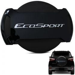 Capa De Estepe Ecosport 2013 a 2019 Antifurto Preto Ebony
