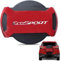 Capa De Estepe Ecosport 2013 a 2019 Antifurto Vermelho Arpoador