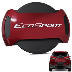 Capa De Estepe Ecosport 2013 a 2019 Antifurto Vermelho Merlot