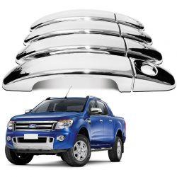 Capa De Maçaneta para Ford Ranger 2013 A 2019 Cromado
