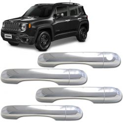 Capa Maçaneta Cromada Jeep Renegade 2015 a 2019
