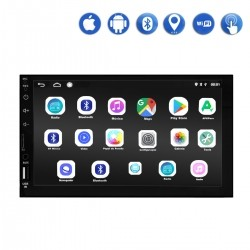 """Central Multimídia First Option K6903 2 Din Android 9.0 Tela 7"""" Wi-fi GPS TV USB SD 4x50 RMS"""