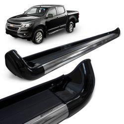 Estribo Lateral S10 2012 a 2018 Preto Carbon Personal