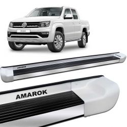 Estribo Lateral Amarok CD 2010 a 2019 Branco Cristal Personalizado