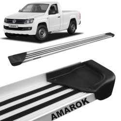 Estribo Lateral Amarok CS 2010 a 2019 Aluminio Natural A1