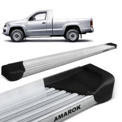 Estribo Lateral Amarok CS 2010 a 2019 Aluminio Natural A3