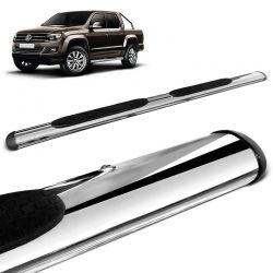 Estribo Lateral Amarok CD 2010 a 2020 Oblongo Oval Cromado