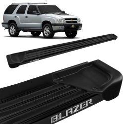 Estribo Lateral Blazer 1995 a 2011 Aluminio Preto A1