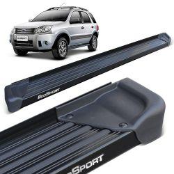 Estribo Lateral Ecosport 2003 a 2012 Aluminio Preto A3