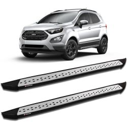Estribo Lateral Ecosport 2013 a 2019 Aluminio Prata K2 My Way
