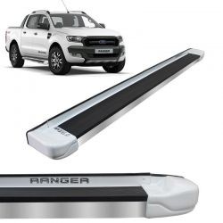Estribo Lateral Ranger 2013 a 2018 Branco Artico Stribus