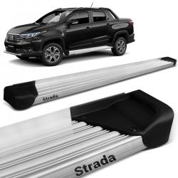 Estribo Lateral Fiat Strada 2021 CD CS Alumínio Natural A3