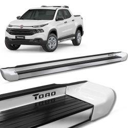 Estribo Lateral Fiat Toro 2016 a 2021 Branco Ambiente Personalizado