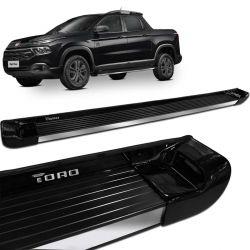 Estribo Lateral Fiat Toro 2016 a 2020 Preto Carbon Personalizado