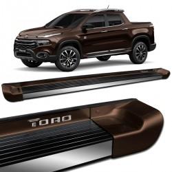 Estribo Lateral Fiat Toro 2016 a 2021 Alumínio Marrom Horizon Personalizado
