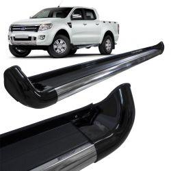 Estribo Lateral Ford Ranger 2013 a 2018 Preto Gales  Personalizado