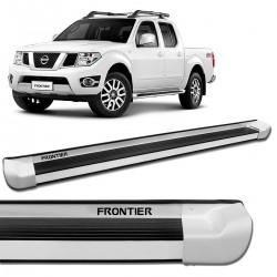 Estribo Lateral Frontier 2008 a 2016 Alumínio Branco Glacial Personalizado