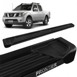 Estribo Lateral Frontier 2008 a 2016 Aluminio Preto A1