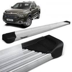 Estribo Lateral Fiat Toro 2016 a 2019 Aluminio Natural A3